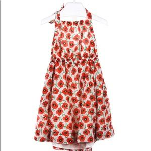crewcuts red poppy halter dress